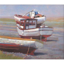 C1320 Three Boats, Porlock Weir – Neville Cox