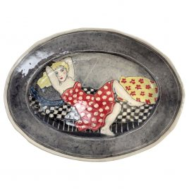 X4532 Large Oval Plate – Louise Gardelle