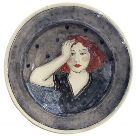 X4536 Large Round Plate – Louise Gardelle