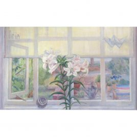 C5376 Window with Lilies, Morning – Hilary Adair