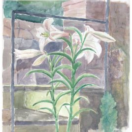C5379 Lilies on the Steps – Hilary Adair
