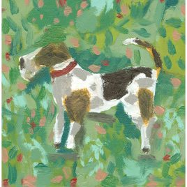 C5406 Dog in a Field II – Cornelia O'Donovan
