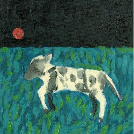 C5408 Lamb and Red Moon – Cornelia O'Donovan