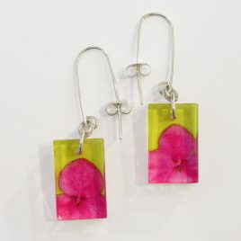 SGE-58 Pink and Yellow Tiny Hydrangea Earrings – Sue Gregor