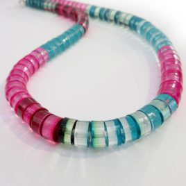 SGN-22 Turquoise and Magenta Tribal Necklace – Sue Gregor