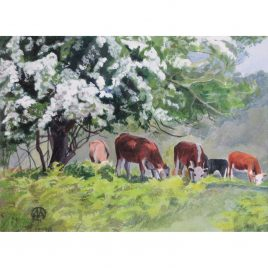 C6131 Grazing Under the May Trees – Monica Ismay Horn ARCA