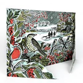 Holly Hedge Advent Calendar by Angela Harding