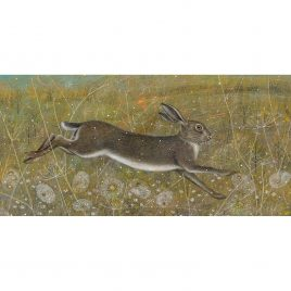 X3895 Leaping Hare- Anne Mortimer RMS SBA