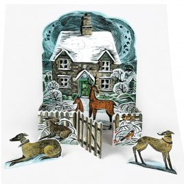 Christmas Cottage Advent Calendar by Angela Harding