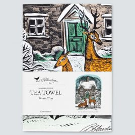 XM-161 Winter Cottage Tea Towel by Angela Harding
