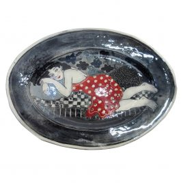 X4912 Large Plate – Louise Gardelle