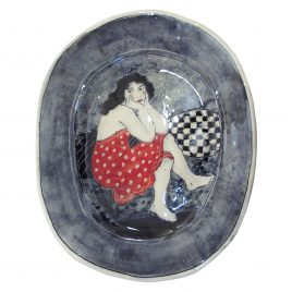 X4914 Large Plate – Louise Gardelle