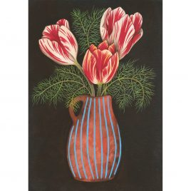 1173C Tulips in a Terracotta Vase – Louise Crabb