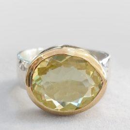YMR-78 Lemon Quartz Ring (Size Q) – Yaron Morhaim