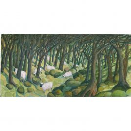 1517C Sheep and Trees – Sue Onley