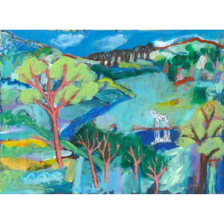 Blue landscape copy