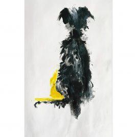 1575C Hound on Yellow – Sally Muir