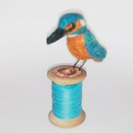 1547C Kingfisher on Cotton Reel – Sue Clements