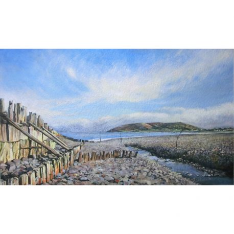 the tide comes in Porlock Weir